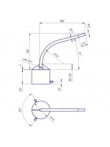 Кронштейн Концевой  К1К-8-10-33 (круглое основание)