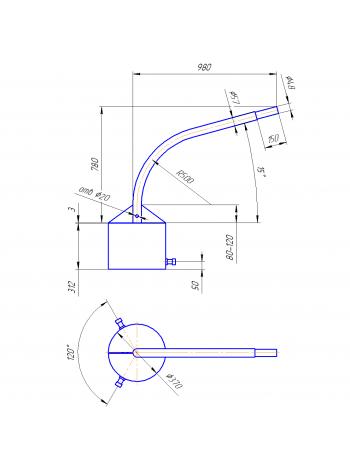 Кронштейн Концевой  К1К-8-10-37 (круглое основание)