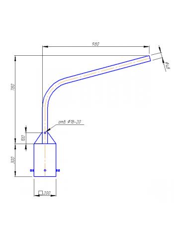 Кронштейн Концевой  К1К-8-10-20 (квадратное основание)